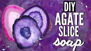 DIY AGATE SLICE SOAP