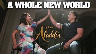 A WHOLE NEW WORLD - Disney's Aladdin - Father & Daughter Cover JillianTubeHD Ft. DTSings