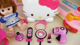 Baby Doli and Hello Kitty hair shop toys baby doll toys play