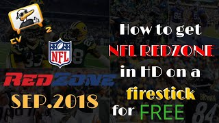 How to get NFL REDZONE on a firestick 2018