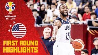 Team USA   FULL HIGHLIGHTS - First Round   FIBA Basketball World Cup 2019