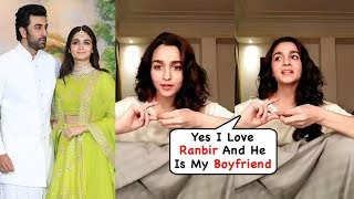 Alia Bhatt Talks About Ranbir Kapoor On Live Chat With Fans