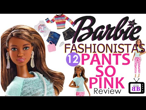 Barbie Fashionista #12 Pants So Pink Barbie Doll Review & Unicorn Fashion Pack Fashion Show