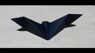 Como hacer un murciélago de papel fácil Origami3