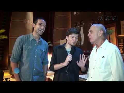 Coletiva Os 10 Mandamentos Reuber entrevista Sergio Marone e Zecarlos TV Record