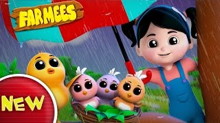 Rain Rain Go Away   Farmees Nursery Rhymes   Kids Songs   Video For Children And Babies