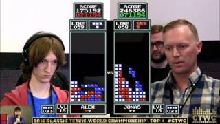 Top 4 - Alex Kerr vs. Jonas Neubauer - Classic Tetris World Championship 2015
