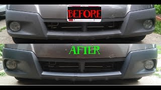 Plastic Bumper Restore with - Dupli Color Trim and Bumper Paint