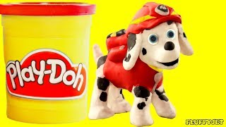 Paw Patrol Marshall Stop Motion Play Doh Family Fun Kids Playtime Toys Pretend Play for children