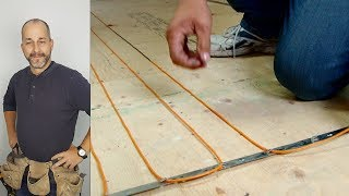 How to Install DIY Radiant Floor Heating Comfort Zone Heating System
