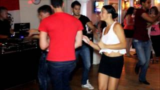 Alejandra Perez & Fady Social Dancing at SalsaMania Saturdays | New York Salsa Scene (7/28/12)