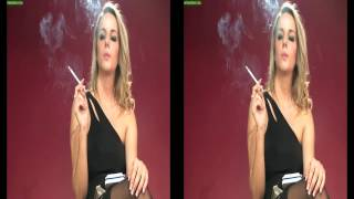 Model Dannii Dee smoking all white 120's HD HQ
