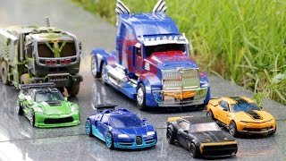 Transformers 4 AOE Autobots Bumblebee Optimus Prime Hound Crosshairs Drift Vehicle Robot Car Toys