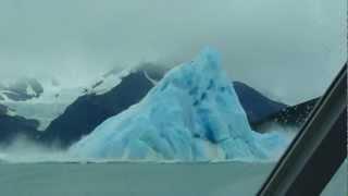 Iceberg flipping over...