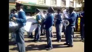 police band zimbabwean guy playing shakers!!!