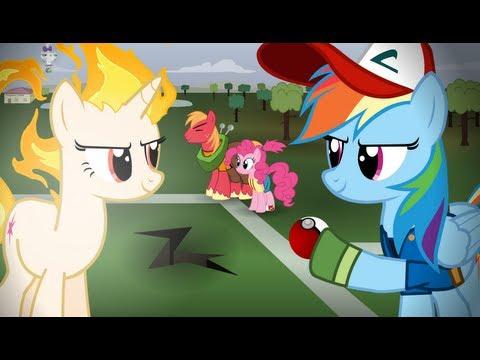 Pokemon Re enacted by Ponies