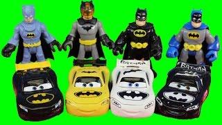 Imaginext Replica Batman & Disney Pixar Cars Bat Car Lightning McQueen Battle Replica Joker