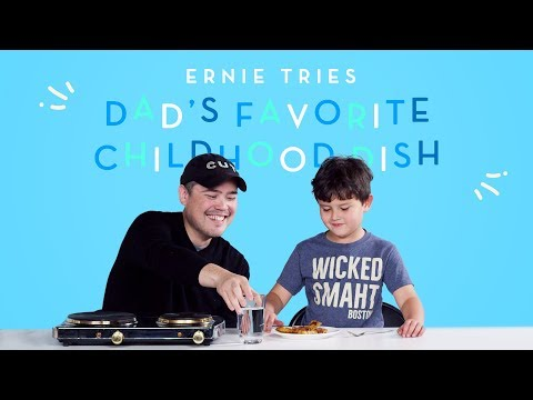 Ernie Tries His Dad s Favorite Childhood Dish Kids Try HiHo Kids
