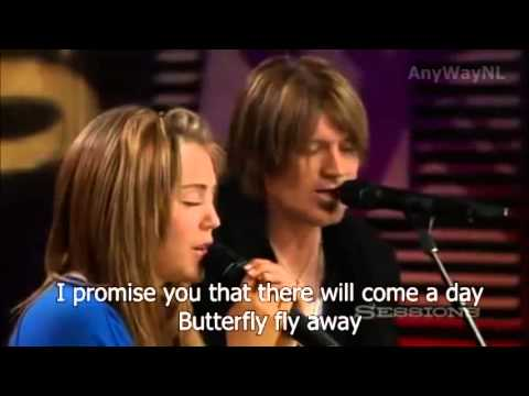 watch Miley Cyrus ft. Billy Ray Cyrus - Butterfly Fly Away | Lyrics in video!