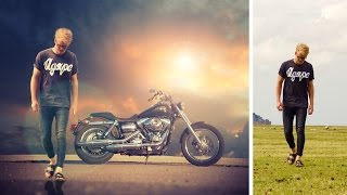 changing background and color adjustment | photoshop manipulation tutorial