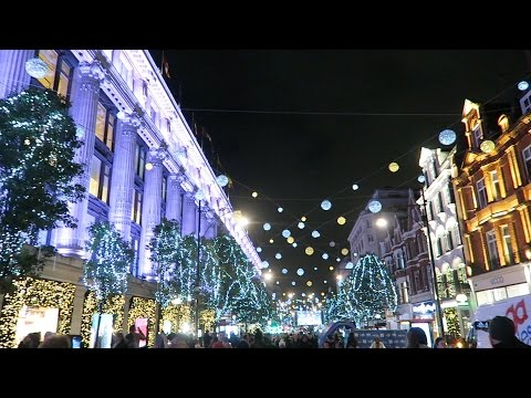 Christmas lights in London 2016 Oxford Street Switched On