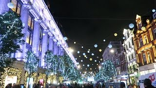 Christmas lights in London Oxford Street Switched On