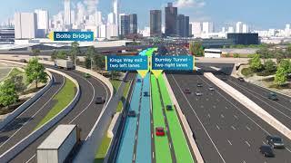 West Gate Freeway Changes - Montague Exit