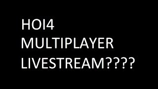 Mulitplayer Livestream Saturday 5th of January - What time????