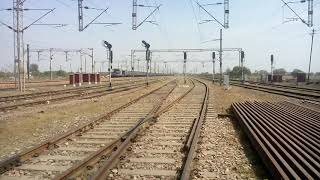 Bhagalpur-Newdelhi weekly express(12349) enter in tundla area with caution 65km/hr | TRAIN IN INDIA