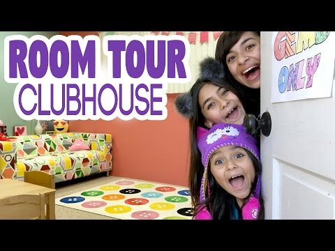 Room Tour Clubhouse VLOG IT GEM Sisters