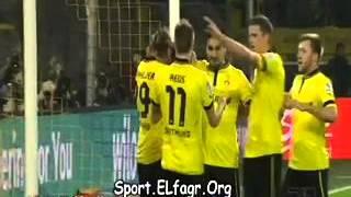 اهداف مباراة بروسيادورتموند واينتراخت فرانكفورت في الدوري الالماني اليوم 01\09\2013