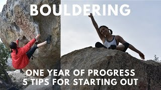 1 year bouldering progress | 5 tips for starting out!