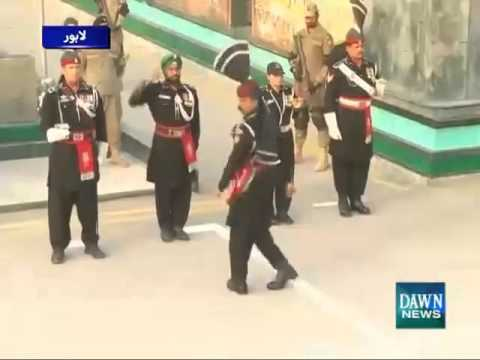 First Time Ever SIKH Pakistani Ranger participating in the Wagah Border Ceremony