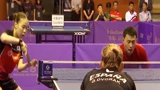 DPRK table tennis players compete in ROK