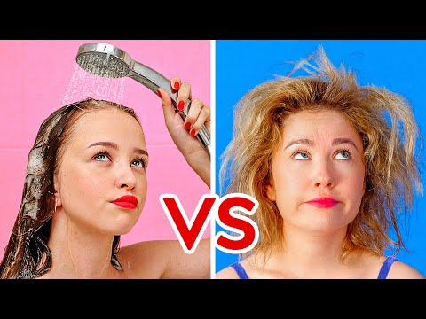 SHORT HAIR VS LONG HAIR PROBLEMS Funny Awkward Situations by 123 GO