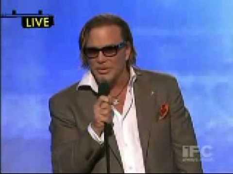 Mickey Rourke Acceptance Speech Best Male Lead Film Independent s Spirit Awards 2009