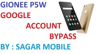 Gionee P5W Google Account Bypass