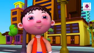 Stop Says The Red Light | Traffic Lights - Popular 3D Nursery Rhymes | Periwinkle