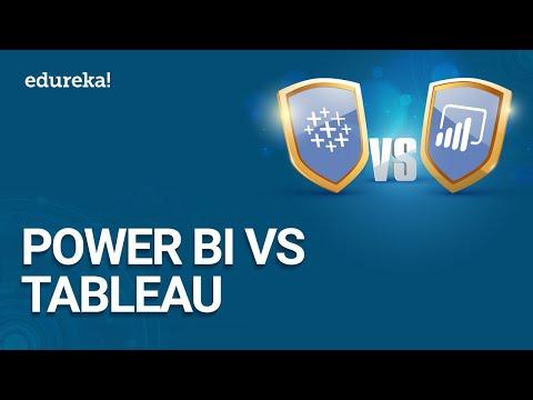 Power BI vs Tableau | Which One To Choose? | Power BI Tutorial For Beginners | Edureka