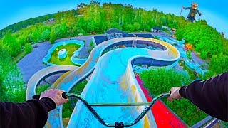 BMX RIDING AT INSANE ABANDONED WATERPARK SWEDEN!
