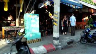 Loi Kroh street  in Chaing Mai is the one with the bars.