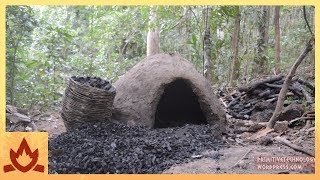 Primitive Technology: Reusable charcoal mound