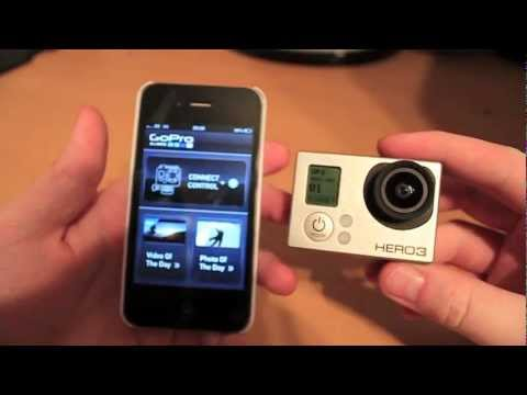 GoPro Hero 3 Wifi connectivity with an iPhone - Setup demo