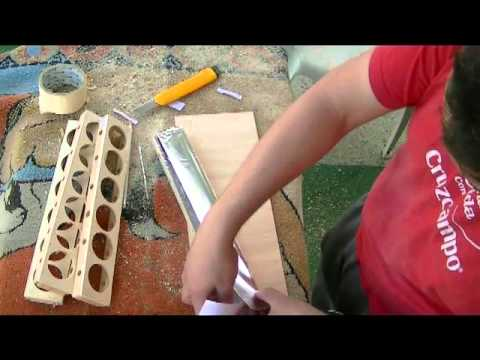 como hacer bandejas para volteador automatico
