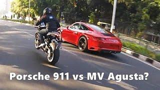 Porsche 911 X MV Agusta Brutale + REACTIONS INDIA