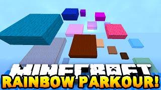 Minecraft RAINBOW PARKOUR RACE! (Sky Parkour) w/PrestonPlayz, Vikkstar, Lachlan & Pete