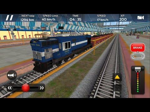 Goods Train Driving Game - Engine WDM 3A | Indian Train Simulator 2018 - Free Android GamePlay HD