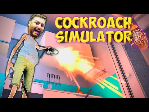COCKROACH SIMULATOR Kill All The Stupid Bugs FUNNY MOMENTS