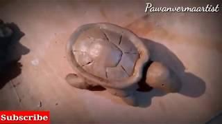 How to make clay sea turtle full tutorial || very easy making sculpture by Pawan Verma Artist