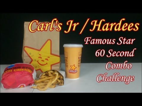 Carl's Jr Hardees Famous Star 60 Second Combo Challenge